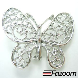 Jewelry - Vintage Silver-Tone Butterfly Brooch Lapel Pin